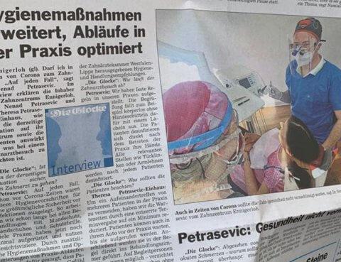 Dr. Petrasevic - Auch in Corona-Zeiten mit Sicherheit zum Zahnarzt!